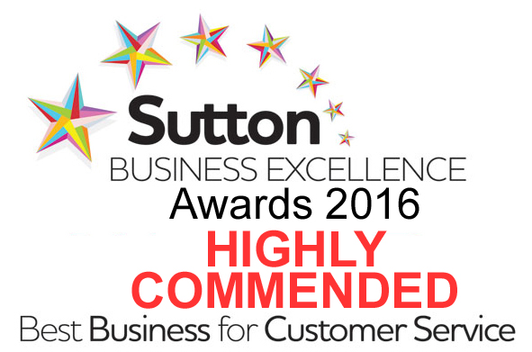 Sutton Business Awards: Highly Commended for Customer Service